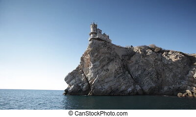 Swallow's Nest castle on the rock over Black sea, Crimea,...