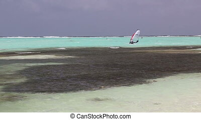 Kitesurf Caribbean Sea - DSLR Full HD progressive video...
