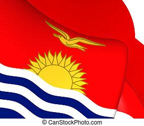 Flag of Kiribati. Close Up.