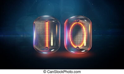 Nixie tube countdown