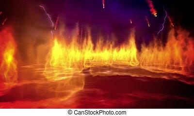 Fire inferno loop