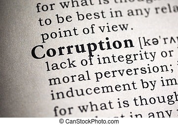 corruption - Fake Dictionary, Dictionary definition of the...