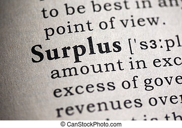 surplus - Fake Dictionary, Dictionary definition of the word...