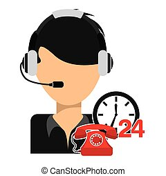 customer support design, vector illustration eps10 graphic