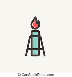 Gas Pump thin lihe icon - Gas Pump icon thin line for web...