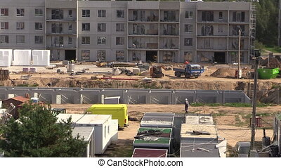 construction site works - Construction site work Workers and...