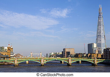 View of the Shard, Southwark Bridge, Tower Bridge and the...