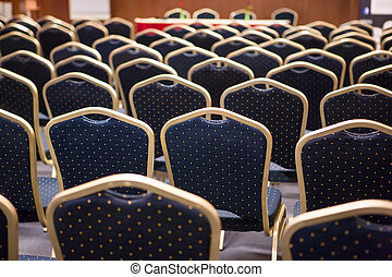 Luxury chairs on a conference