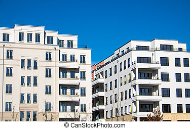 Modern blocks of flats in Berlin - Modern blocks of flats...