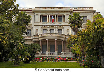 Museum Massena in Nice, France - NICE, FRANCE - MAY 14,...