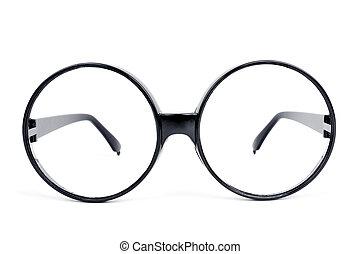 round-lens eyeglasses - closeup of a pair of round-lens...