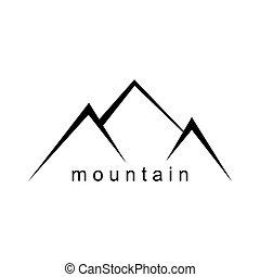 Mountain abstract illustration