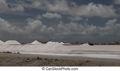 caribbean salt lake mining work - DSLR Full HD progressive...