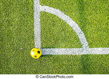 Soccer ball aerial view