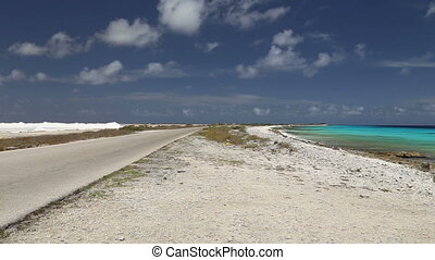 road lake Caribbean Sea - DSLR Full HD progressive video...
