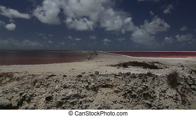 rose caribbean salt lake - DSLR Full HD progressive video...