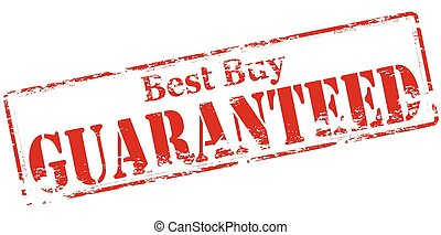 Best buy guaranteed - Rubber stamp with text best buy...
