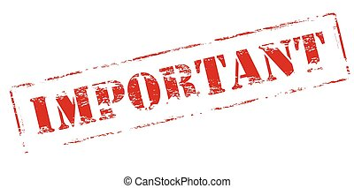 Important - Rubber stamp with word important inside, vector...