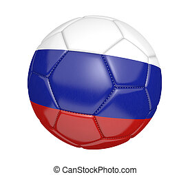 Soccer ball with Russia flag - Soccer ball, or football,...