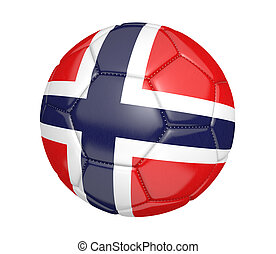 Soccer ball with Norway flag - Soccer ball, or football,...