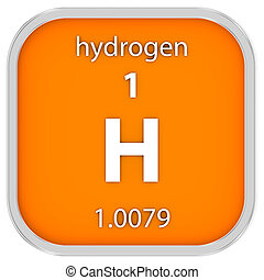 Hydrogen material sign