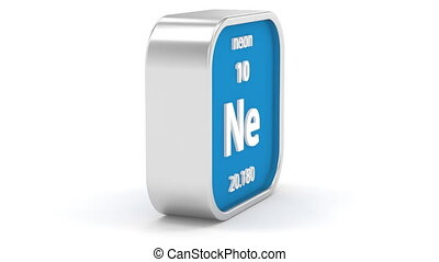 Neon material sign - Neon material on the periodic table....