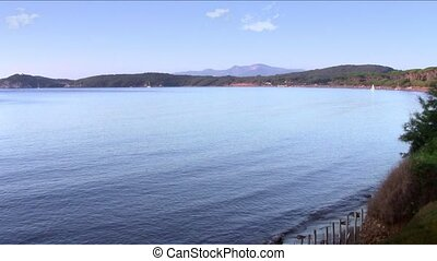 tuscan seascape - tuscany, the gulf of baratti