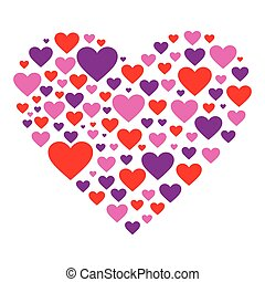 Hearty Heart - A heart shape filled with colorful hearts.