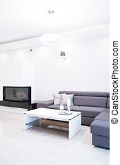 Family room - Big family room with marble floor and...