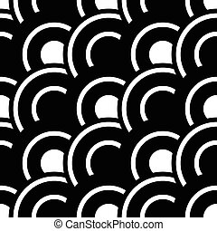 Seamless Wave Pattern - Vector Monochrome Seamless Wave...