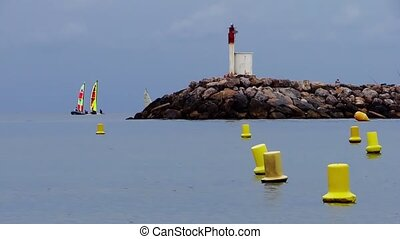 sailboats in early morning - Saintes-Maries de la Mer....