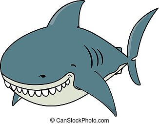Funny looking Great white shark - Cute funny looking Great...