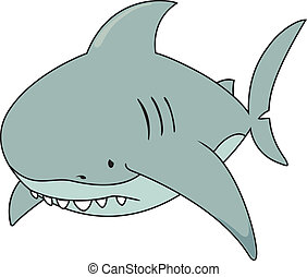 great white shark - Sad looking gre