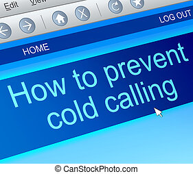 Cold calling concept. - Illustration depicting a computer...