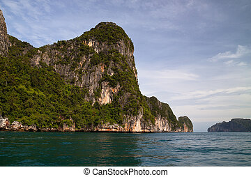 Phi Phi Island - Beautiful scenic coastline of Phi Phi...