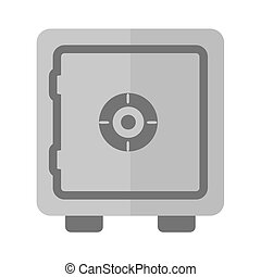 Bank Vault - Lock, vault, safe, locker icon vector image....