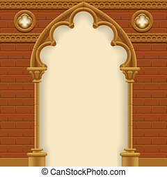Gothic arch and wall