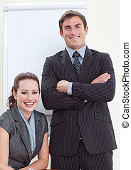Businesswoman in a meeting with her manager