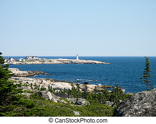 View of the lighthouse at Peggys Cove