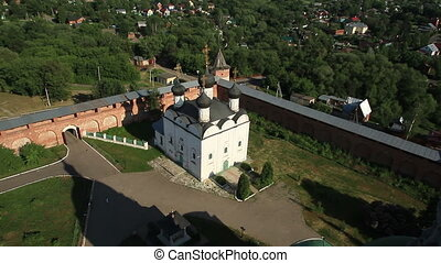 Russian Orthodox Church - aerial shoot of Russian Orthodox...