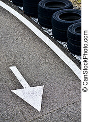 Arrows on a raod-Karting Circuit