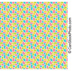Bright fun abstract seamless pattern with spots