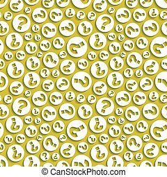 Questions. Seamless pattern. Vector illustration. Can be...