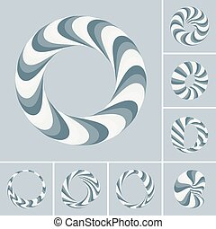 Set of abstract 3d vector icons such emblems.