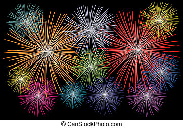 illustration of a fireworks