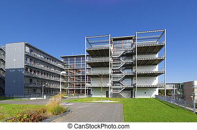 school building - modern school building exterior in zwolle,...