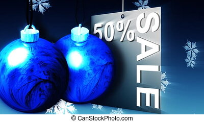 Christmas Shopping Sale Advertisement - Animation about...