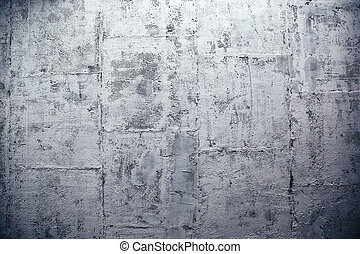 Modern concrete wall made of blocks - Closeup image of a...
