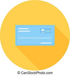 Cheque, draft, receipt icon vector image Can also be used...