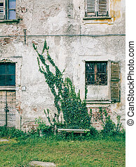 Small town details - Architectural details of an abandoned...